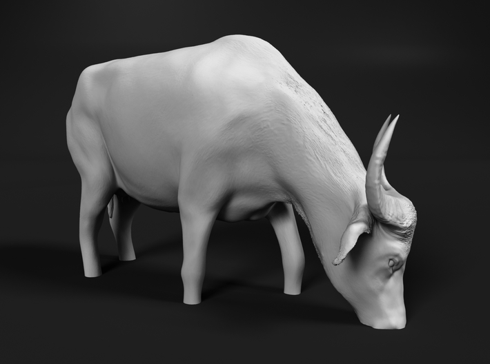 Domestic Asian Water Buffalo 1:25 Grazing in Water 3d printed
