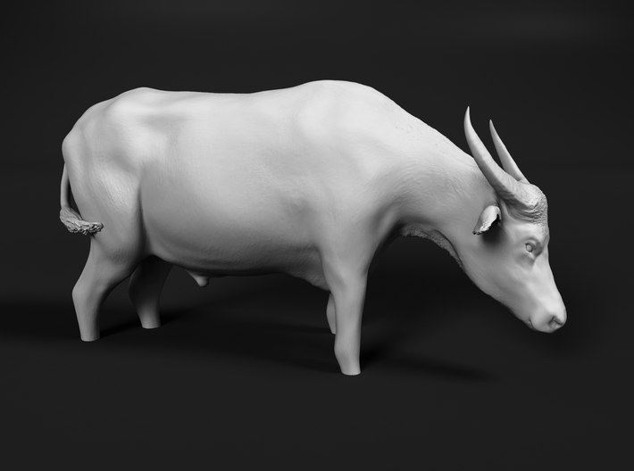 Domestic Asian Water Buffalo 1:25 Stands in Water 3d printed