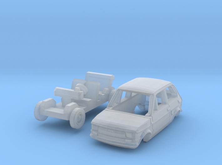 Fiat 126 (N 1:160) 3d printed