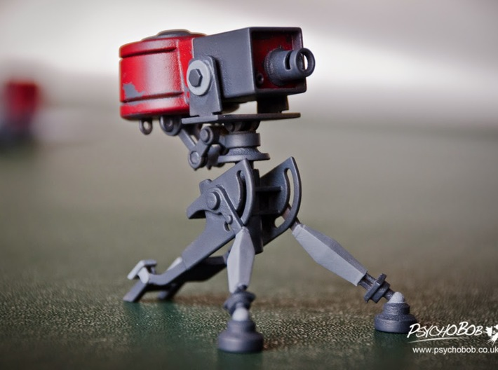 Team Fortress 2 - Sentry (Level 1) 3d printed After some painting
