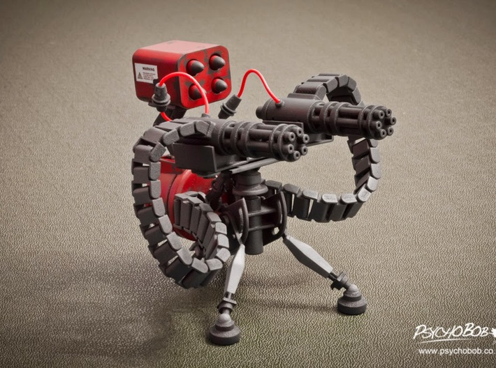 Team Fortress 2 - Sentry (Level 3) 3d printed *Requires level 1 & 2 pieces*
