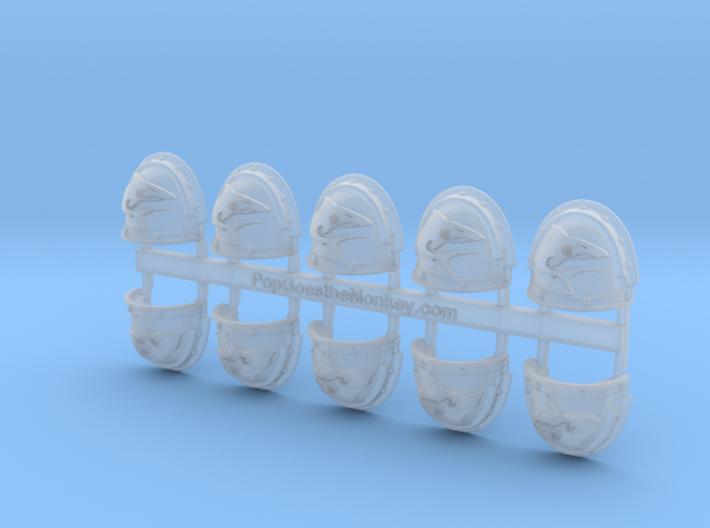 Mako Shark - G3 Right Shoulder Pads x10 3d printed