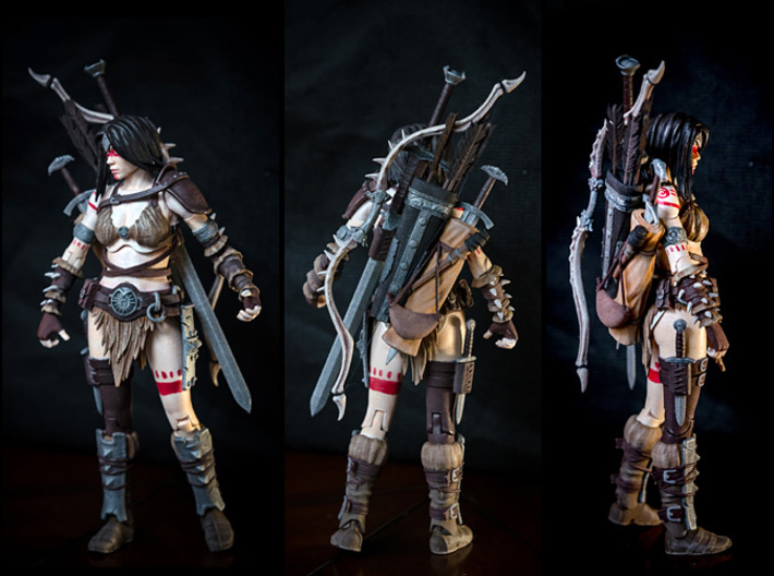 FB-01-Preset-01  7inch 3d printed Weapons and gear not included