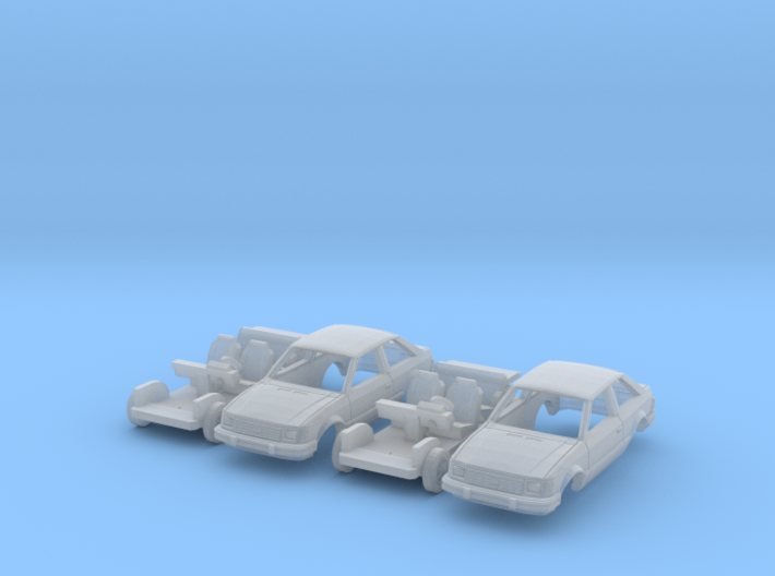 SET 2x Ford Escort 2-door hatchback (US) (N 1:160) 3d printed