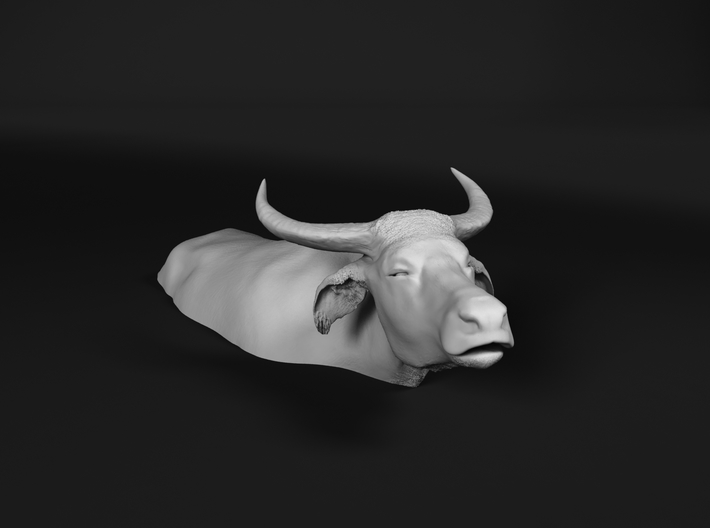 Domestic Asian Water Buffalo 1:48 Lying in Water 1 3d printed