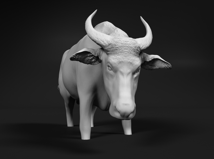 Domestic Asian Water Buffalo 1:48 Stands in Water 3d printed