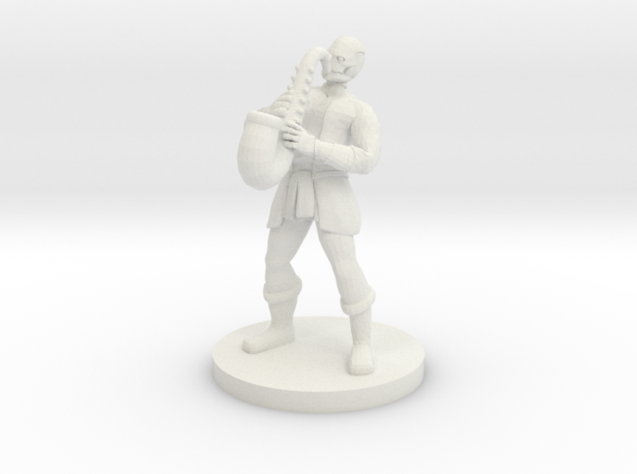 Warforged Bard 3d printed