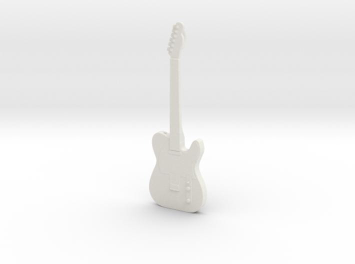 Telecaster Guitar Pendant 3d printed
