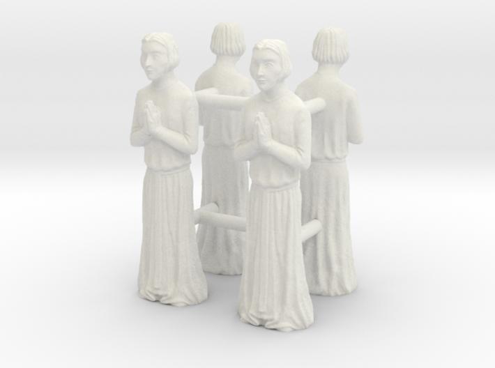 Medieval Saint statues x4 3d printed