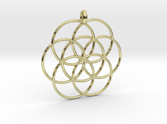 Flower of Life - Hollow Pendant 3d printed