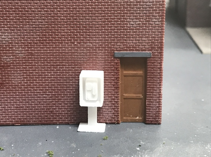 Payphone Booth- HO Scale 3d printed Actual printed, unpainted in WSF
