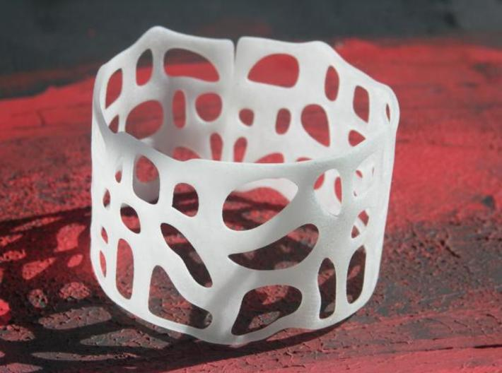 Organic Bracelet  3d printed Photograph of Frosted Detail.
