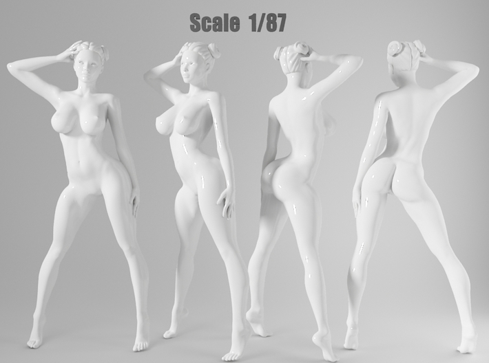 1:87 Sexy little girl in 2cm-005 3d printed