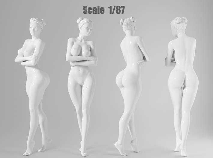 1:87 Sexy little girl in 2cm-007 3d printed