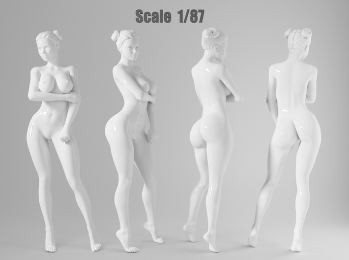 1:87 Sexy little girl in 2cm-009 3d printed