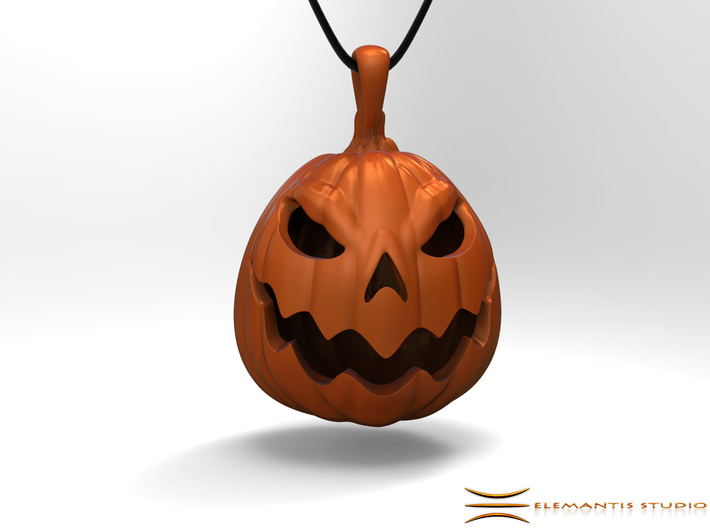 Jack O'Lantern Pendant 2.5cm 3d printed Pendant cord not included