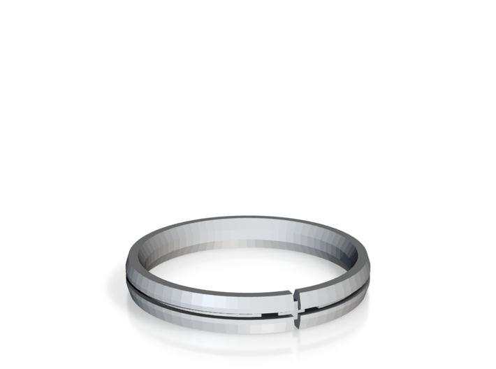Candice Ring Silver Print 3d printed
