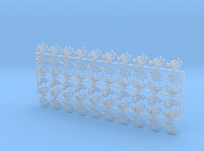 60x Flame Dragons : Shoulder Insignia pack 3d printed