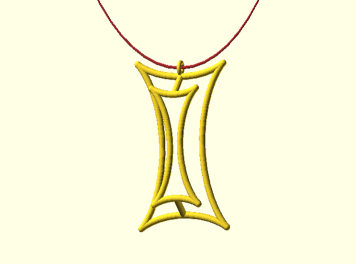 Talbot's Curve Pendant 3d printed Digital image. Not a photo.