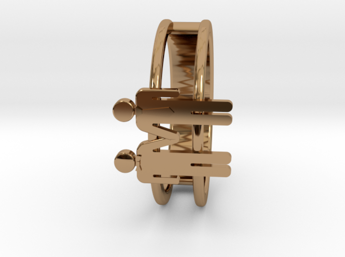 Love Collection Rings - Man and Man Ring 3d printed