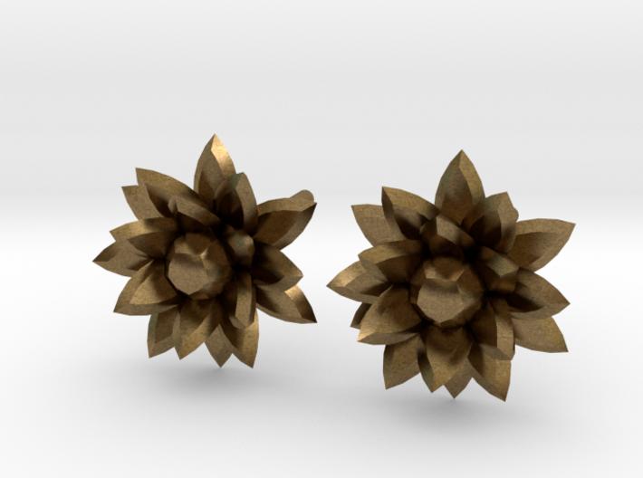 Silver crystal ear rings 3d printed