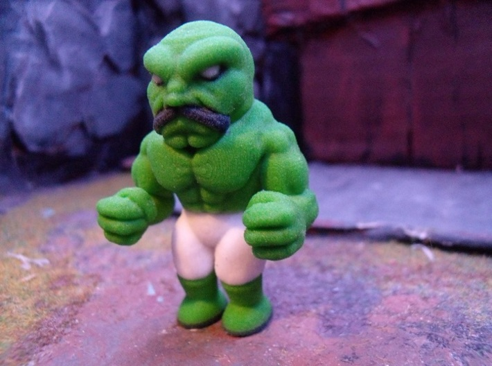 Green Abobo 3d printed