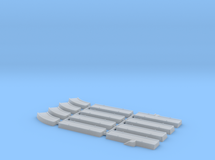 1/1200th - 1/1250th scale Pier pack (12 pieces) 3d printed