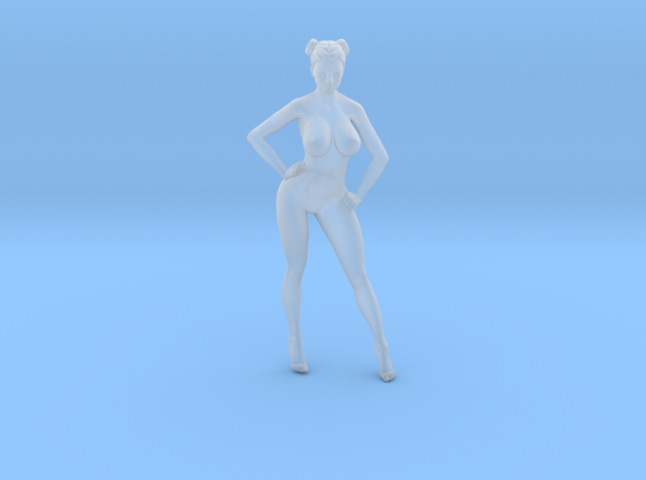 1:87 Sexy little girl in 2cm-012 3d printed