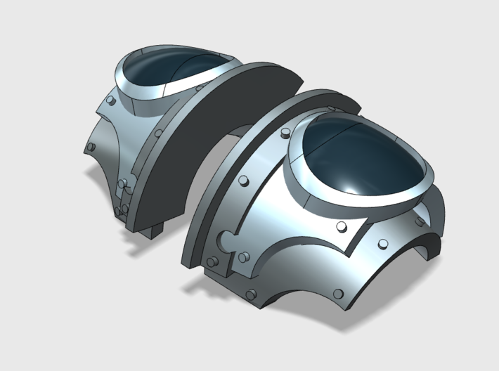 5x Blank Rounds = Cataphractii Shoulder Sets 3d printed