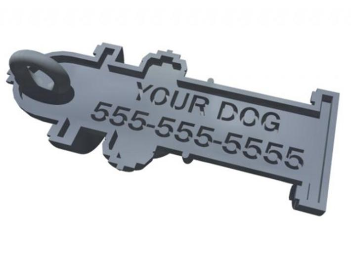 Fire Hydrant Pet Tag / Pendant 3d printed Rendering of back side