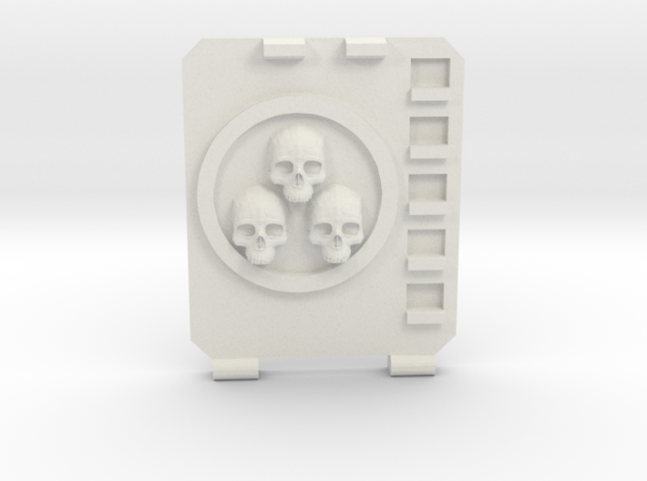 APC hatch Left [Triple skull] 3d printed