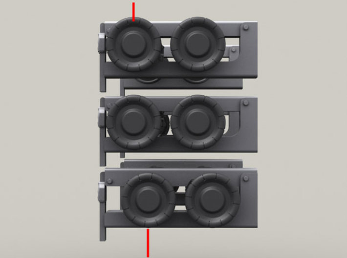 1/35 SPM-35-027-TOW-07 TOW missile containers rack 3d printed