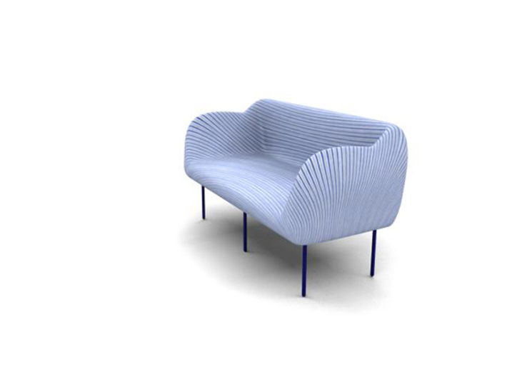 Spiral-Couch 3d printed Pic-3