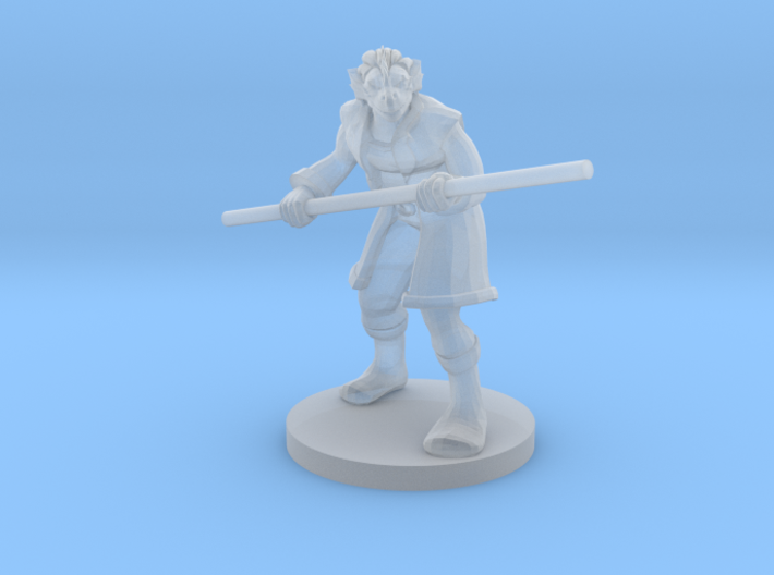 Dragonborn male Monk with Staff 3d printed