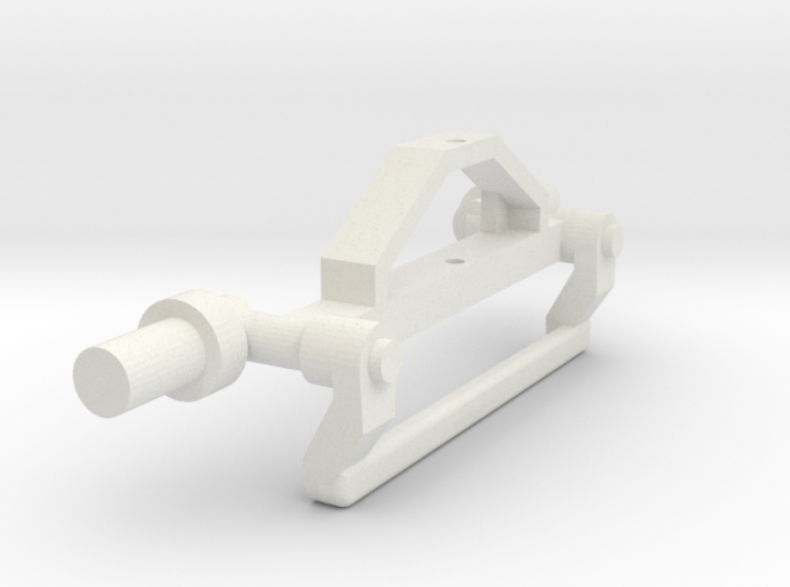 6080 2wd Front Axle 3d printed