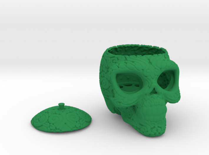 Day of the Dead/ Halloween Glow Skull Lantern 8cm 3d printed