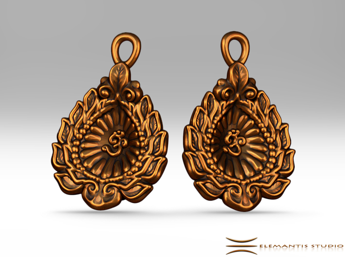 Diwali / Loi Krathong AUM Earrings 3d printed these earrings require earring hooks which are not included