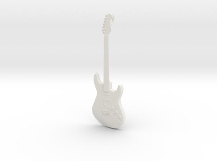 Stratocaster Guitar Pendant 3d printed