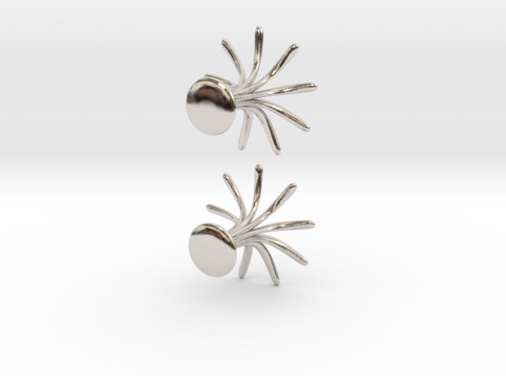Cufflinks Flourish 3d printed