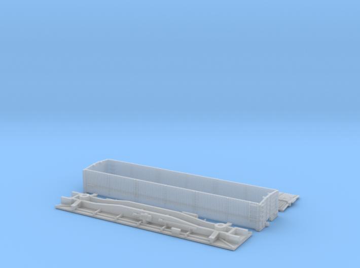 Enclosed Tank Pickle Car Kit - N 3d printed Printed Parts - FUD