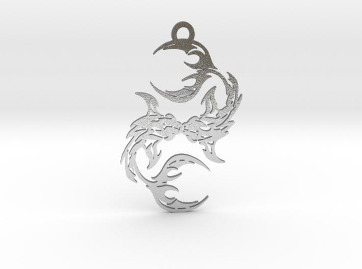 Pisces amulet 3d printed