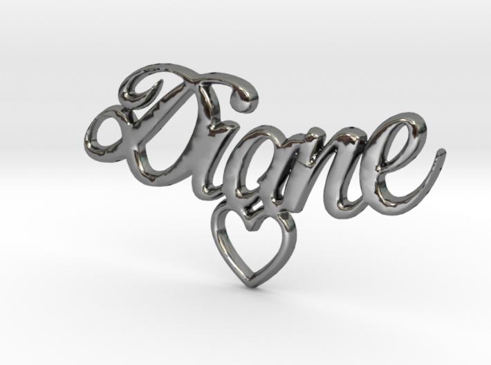 Diane Coeur Pendant 3d printed