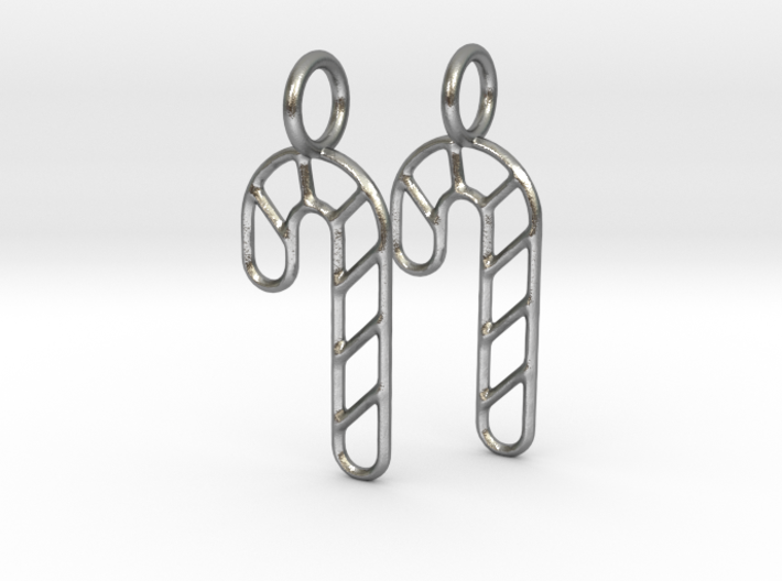 Candy cane earrings 3d printed