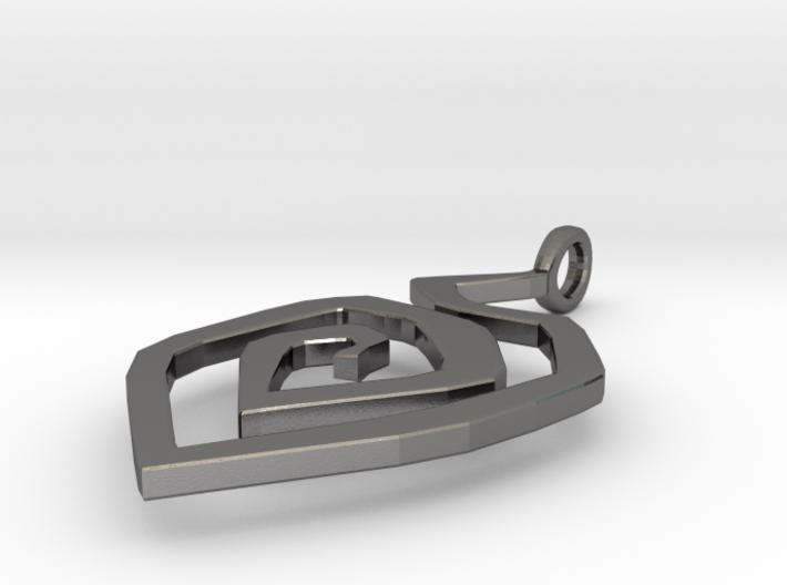 Fire swirl pendant 3d printed