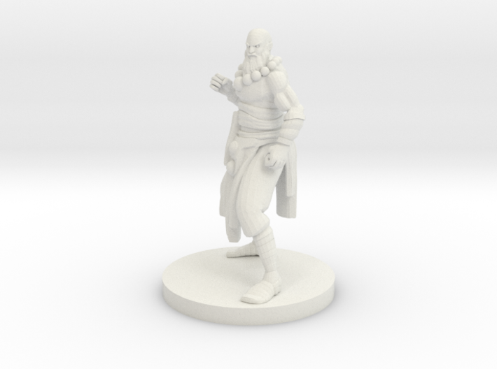 Human Monk Master 3d printed