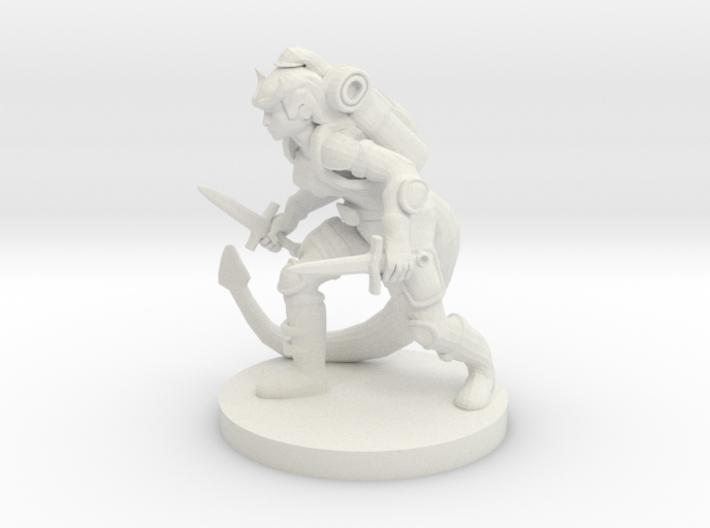 Tiefling Female Rogue 3d printed