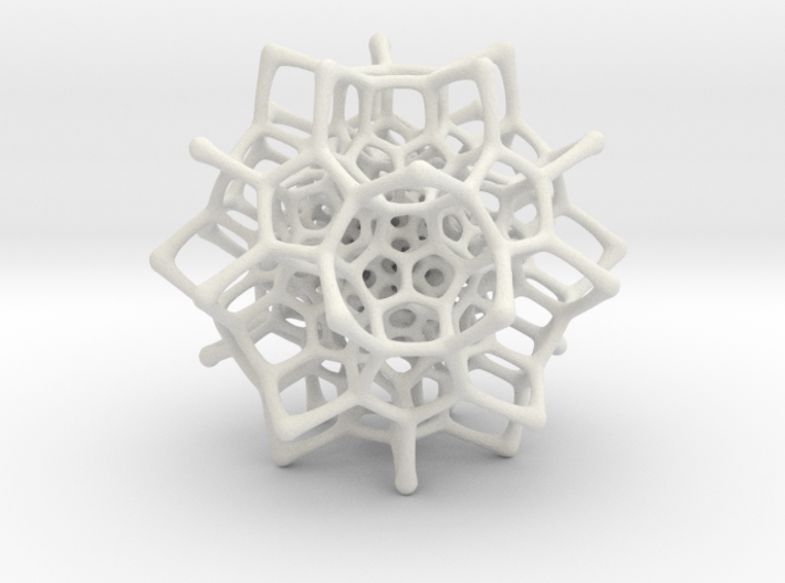 Christmas tree decoration ornament - 120cell_A2_r5 3d printed