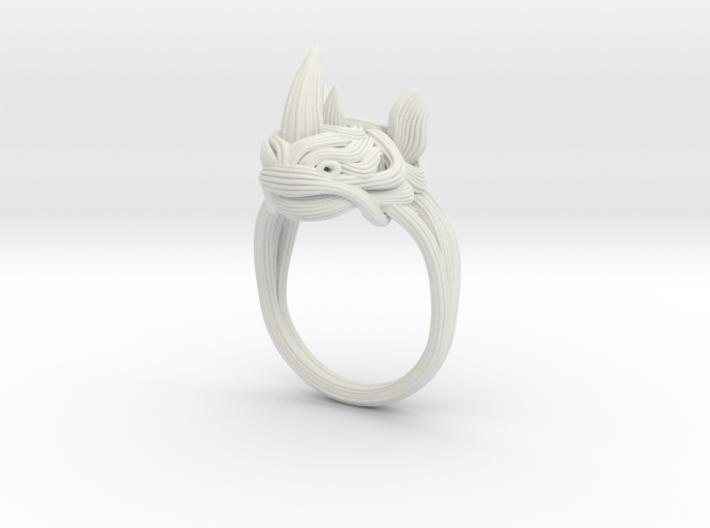 Rhinoceros Ring 3d printed