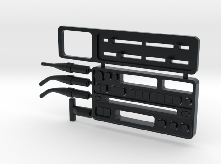 RCN063 Dashboard elements for Toyota 4Runner PL 3d printed