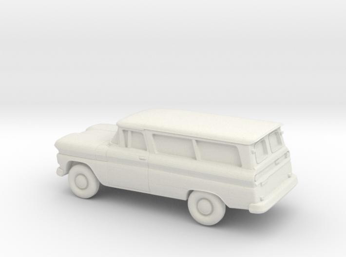 1/87 1960-61 Chevrolet Suburban Split Doors 3d printed